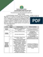 Edital 038 - 2018 - Prof. Substituto
