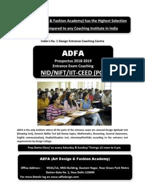 Adfa Prospectus Academic Degree Design