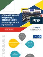 Ires_romania in Fata Presedintiei Consiliului Ue_perceptii Publice