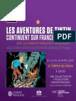 Les aventures de Tintin continuent sur France Culture