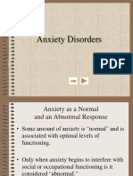 Anxietydisorder Lecture