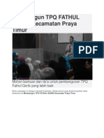 Membangun TPQ FATHUL QORIB Kecamatan Praya Timur