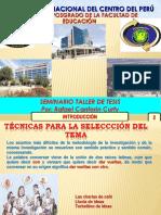 Seminario Taller de Tesis 2017-2