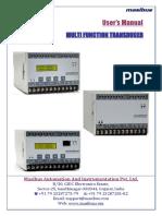 Multi Function Transducer User Manual