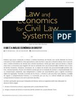 O que é a Análise Econômica do Direito?