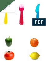 Teachh Cubiertos y Frutas