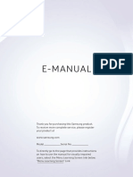 Samsung TV UE40NU7192 English Manual