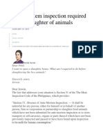 2019.01.10 Ante-mortem Inspection Required Before Slaughter of Animals