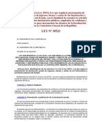 Ley 30521 _ Ley Que Modifica La Ley 30161, Presentación Declaración Jurada de Ingresos, Bienes y Rentas