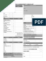 Dengue Assessment Checklist