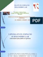 LIPOMA EN EL ESPACIO SUBMANDIBULAR.