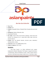 Asian Paints Limited is an Indian Multinational Paint Company Headquartered in Mumbai