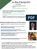 Stravinsky Context 1