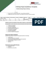 Basic English Writing Project Guidelines