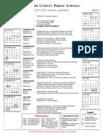2019-20 Adopted Fauquier County school calendar
