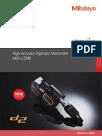 Mitutoyo - mikrometr elektroniczny o dużej dokładności High-Accuracy - E12004(3) - 2018 EN