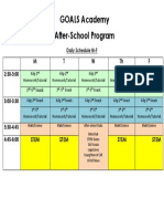 goals afterschool academy schedule