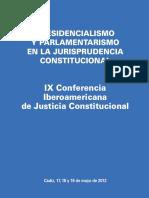 Precidencialismo y Parlamentarismo en la Jurisprudencia Constitucional.-Congreso