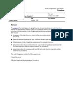 Audit Programme Tax