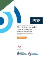 DC ENERGIA ELECTRICA Electricista Operador Nivel de Habilitacion 1 Trabajos Con Tension