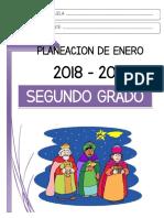 Planeación segundo grado. Enero 2019. ciclo escolar 2018-2019