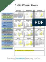 2018 19 Traditional Calendar