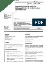NBR 12312 Nb 1396 - Dimensionamento Da Protecao Catodica Galvanica de Embarcacoes Maritimas de Ac