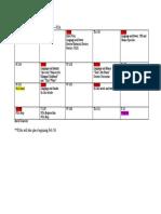 part one calendar