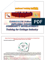 Food Preservation Curricullum 3 Months