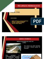 Presa CFRD Recursos Hidraulicos