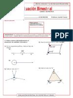 6º Grado Examen Bimestral Geometría