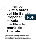 El Tiempo Existió Antes Del Big Bang