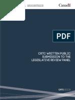 CRTC Legislative Review Panel Submission
