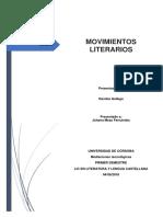 MOVIMIENTOS LITERARIOS - Mediaciones Tecnologicas