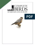 Catalogul pasarilor Europa