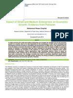 Impact of Small and Medium Enterprises on Economic Growth