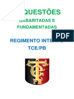 Exercicios Do Regimento Interno Do TCEPB (1)