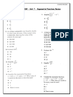 Course Review - Exponential Functions Practice Test and Review From Textbook