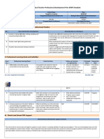 teacherpdptemplate  1 professional development
