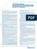 Informativa Privacy Poste Italiane
