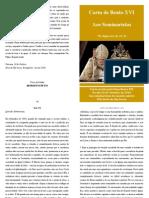 Carta Do Papa Bento Xvi Aos Seminaristaspdf