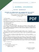 Décret no 2011-1571 du 16 novembre 2011 relatif à l'appellation d'origine contrôlée « Tavel »