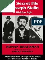 Roman Brackman - The Secret File of Joseph Stalin_ a Hidden Life (2003, Routledge)