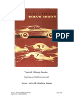 Volvo 1800s Owners Manual 63-70