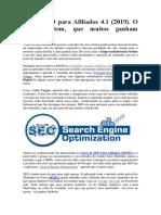 Documento sobre o Curso SEO Para Afiliados 4.1 - SEOPA