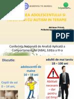 Adriana Pricob Gina Seria Abordarea Adolescentului Si Adultului Cu Autism in Terapie