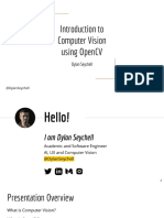 Introduction to computer vision by Dylan Seychell