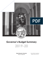 2019-2020 California Budget Proposal