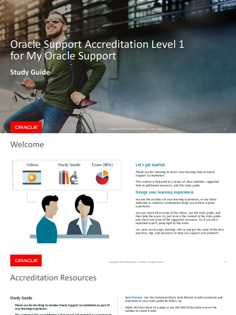 Oracle Support L1 Accreditation Study Guide | Oracle Database | Expert