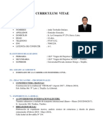 Curriculum Vitae - Andy Gonzales Gonzales
